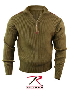 3370 Rothco Acrylic Commando Sweater 1/4 Zip