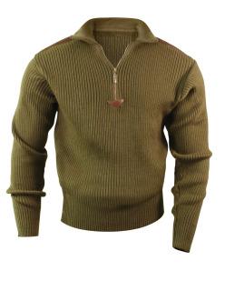 Rothco Quarter Zip Acrylic Commando Sweater-Rothco