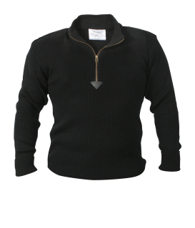 Rothco Quarter Zip Acrylic Commando Sweater-