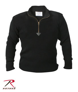3390 Rothco Acrylic Commando Sweater 1/4 Zip