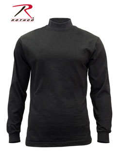 Rothco Mock Turtleneck - Black