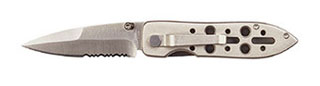 Rothco Samurai III Skeletal Handle Double-Edge Lockback Folding Knife-Rothco