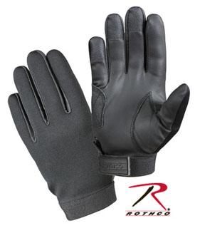 Black Stretch Fabric Gloves