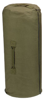 "3478 Rothco Canvas Zipper Duffle Bag / 21"" X 36"" - Olive Drab"
