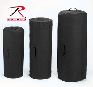"3488 Rothco Canvas Zipper Duffle Bag / 21"" X 36"" - Black"