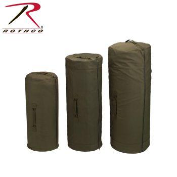 Rothco Canvas Duffle Bag With Side Zipper-Rothco