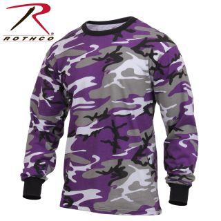 3592_Rothco Long Sleeve Colored Camo T-Shirt-