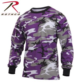 Rothco Long Sleeve Colored Camo T-Shirt-Rothco