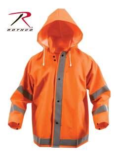 3657 Rothco Reflective Rain Jacket - Orange
