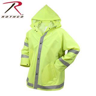 Rothco Safety Reflective Rain Jacket-