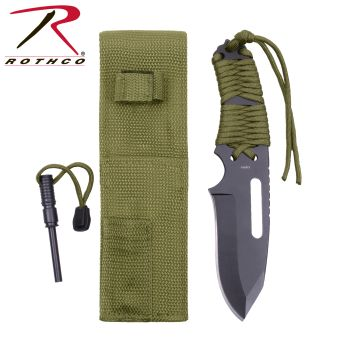 Rothco Large Paracord Knife With Fire Starter-Rothco