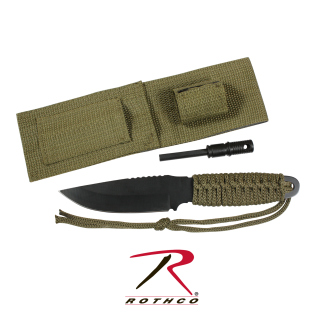 Rothco Paracord Knife With Fire Starter-Rothco
