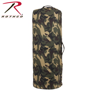 Canvas Zipper Duffle Bag / 25''x42''-Woodland Camo