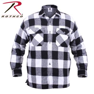Rothco Extra Heavyweight Buffalo Plaid Sherpa-lined Flannel Shirts-