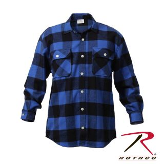 Rothco Extra Heavyweight Buffalo Plaid Flannel Shirt-Rothco