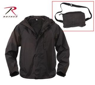 3754 Rothco Packable Rain Jacket - Black