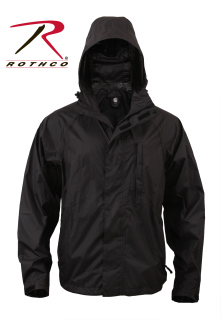 3755 Rothco Packable Rain Jacket - Black