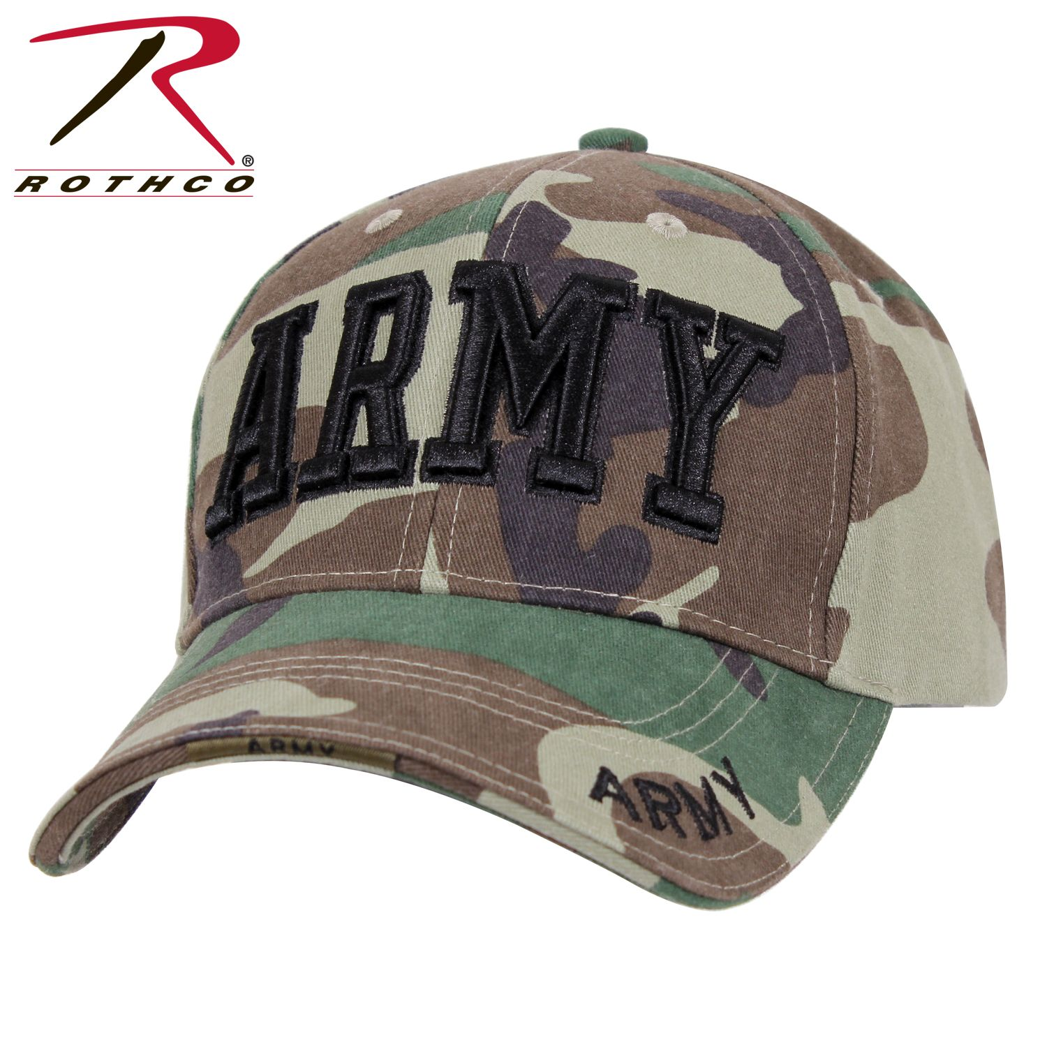 6b5a6355df0 Buy Rothco Deluxe Army Embroidered Low Profile Insignia Cap - Rothco ...