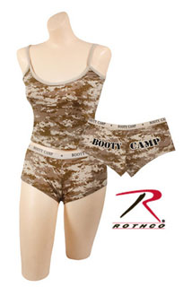 "Rothco Desert Digital Camo ""Booty Camp"" Booty Shorts & Tank Top-"