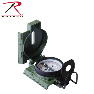 Cammenga G.I. Military Phosphorescent Lensatic Compass-Rothco
