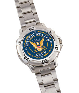 *rothco Navy Logo Watch / Chrome