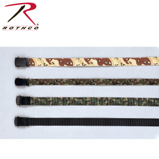 Rothco Nylon Web Belt - Black Webbing-