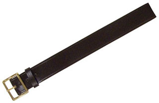 3/4'' Bonded Leather Garrison Belt With Brass Buckle