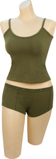 "Rothco Olive Drab ""Booty Camp"" Booty Shorts & Tank Top-"