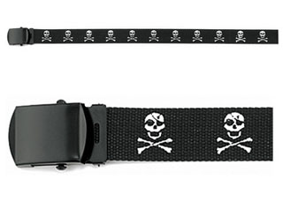 ''jolly Roger'' Web Belt - 54''