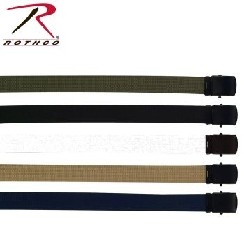 Rothco Military Web Belts w/ Black Buckle-
