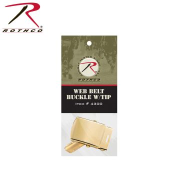 Rothco G.I. Type Web Belt Buckle And Tip Pack-