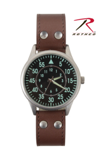 Rothco Military Style Watch With Leather Strap-Rothco