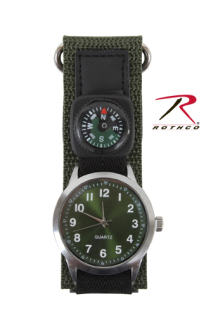 Rothco Watch With Compass-Olive Drab-