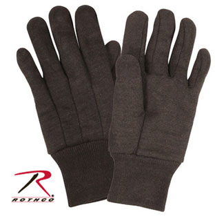 Rothco Brown Cotton Jersey Work Gloves-Rothco