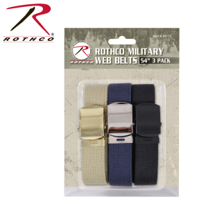Rothco 54 Inch Military Web Belts in 3 Pack-Rothco