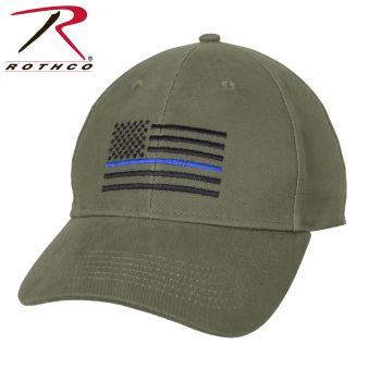 Rothco Thin Blue Line Flag Low Profile Cap-