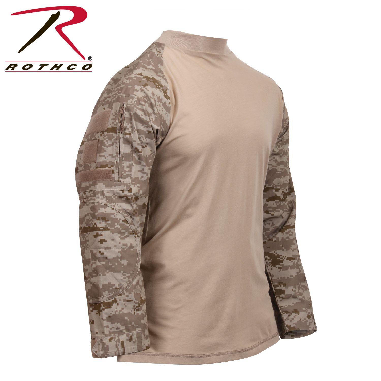 Rothco Military Style Long Sleeve Shirt Tactical Airsoft Combat Shirts