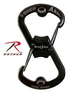 Rothco Black Nite Ize S-Biner / Bottle Opener-