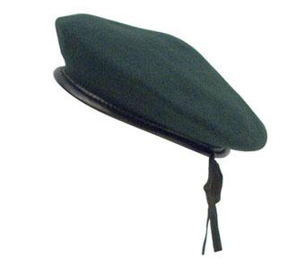Green Wool Monty Beret