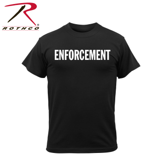Rothco 2-Sided T-Shirt / Enforcement - Black