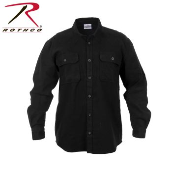Rothco Heavy Weight Solid Flannel Shirt-Rothco