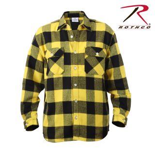 Rothco Extra Heavyweight Buffalo Plaid Flannel Shirt-Rothco