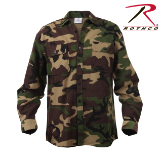 Rothco Extra Heavyweight Camo Flannel Shirts-