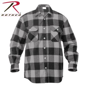 Rothco Extra Heavyweight Buffalo Plaid Flannel Shirt-
