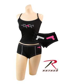 Rothco Pink Guns Booty Shorts & Tank Top-