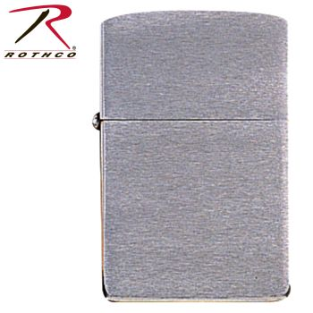 Zippo Brushed Chrome Lighter-Rothco