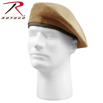 'Inspection Ready'' Beret - Tan - No Flash-Rothco