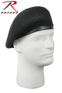 'Inspection Ready'' Beret - Black - No Flash-Rothco