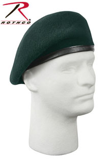 'Inspection Ready'' Beret - Green - No Flash-Rothco