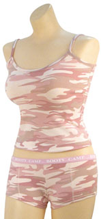 "Rothco Baby Pink Camo ""Booty Camp"" Booty Shorts & Tank Top-"